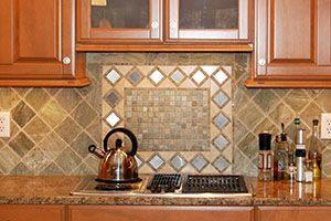 Kitchen with tile or stone backsplashes