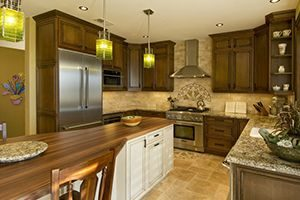 Cabinets that reach to the ceiling