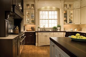 Kitchen or bathroom cabinets