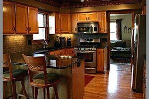 kitchen floors with faux wood