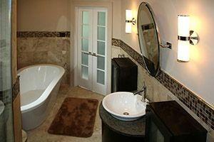 Bathroom walls being remodeled