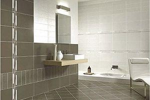 bathroom with water-damaged drywall or exposed drywall