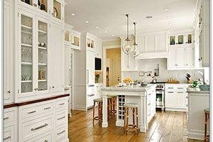 kitchen with lots of cabinets, tall cabinetry