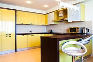 Lacquered cabinets