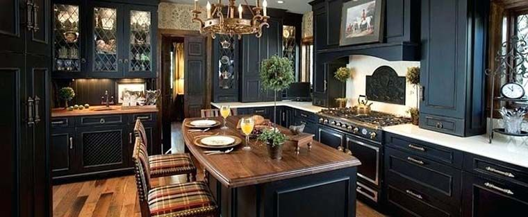 (kitchen with beautiful cabinets