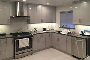 flat laminate cabinets
