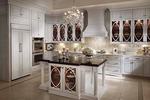 glass cabinet doors with a nice design