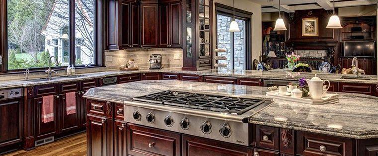 closeup of kitchen base cabinets