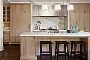 kitchen cabinets with reclaimed wood look