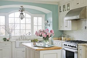 kitchen with neutral paint