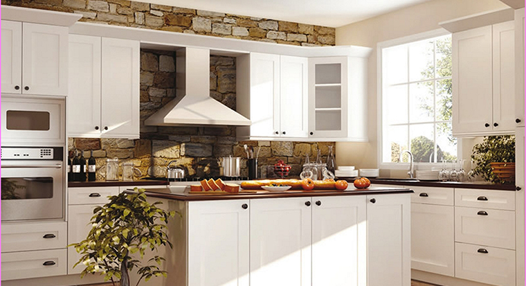 badly-planned kitchen with cabinets