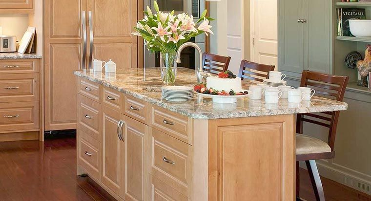 portable kitchen island using base cabinets