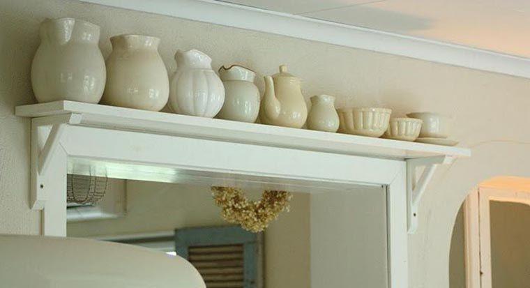 shelves over the doorway