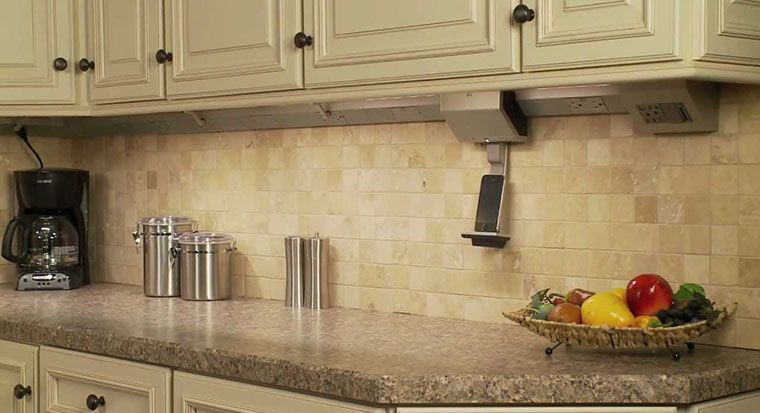 cabinets with plug in under cabinet lights