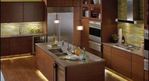 kitchen with under cabinet lights