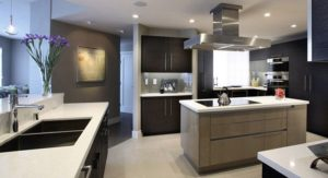 modern kitchen with kitchen cabinets