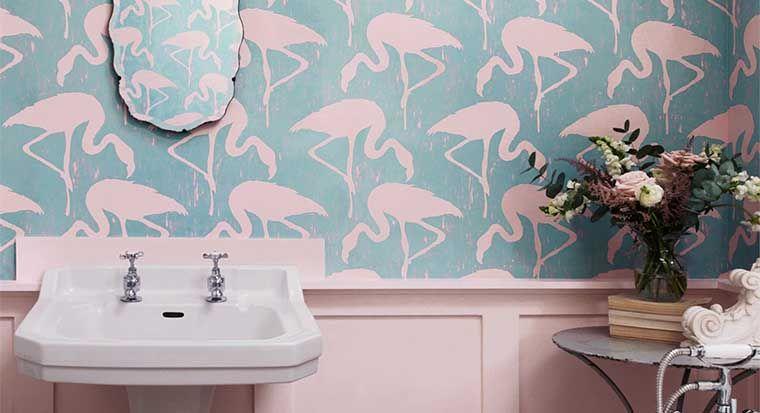 flamingo print wallpaper