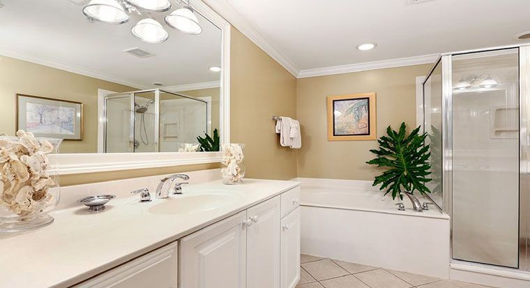 image of a bathroom remodel quote with total