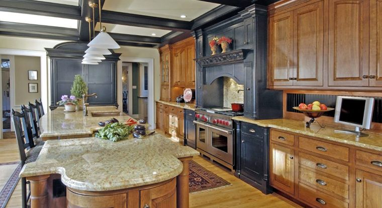 tall cabinets lining one wall