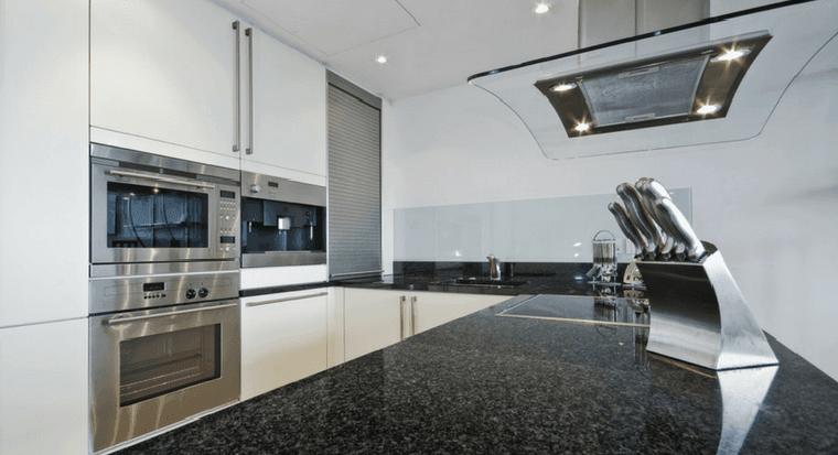 kitchen with gleaming granite countertops