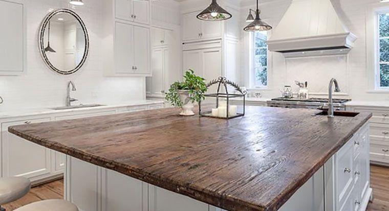 cracked wood countertop