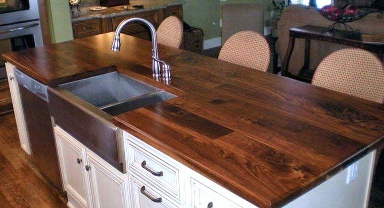 sink on wood countertop