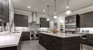 well lighted kitchen