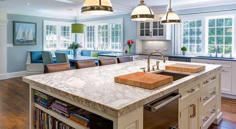 Kitchen with beautiful granite countertops