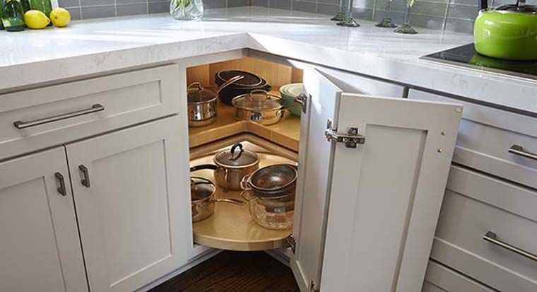 corner cabinet with Lazy Susan