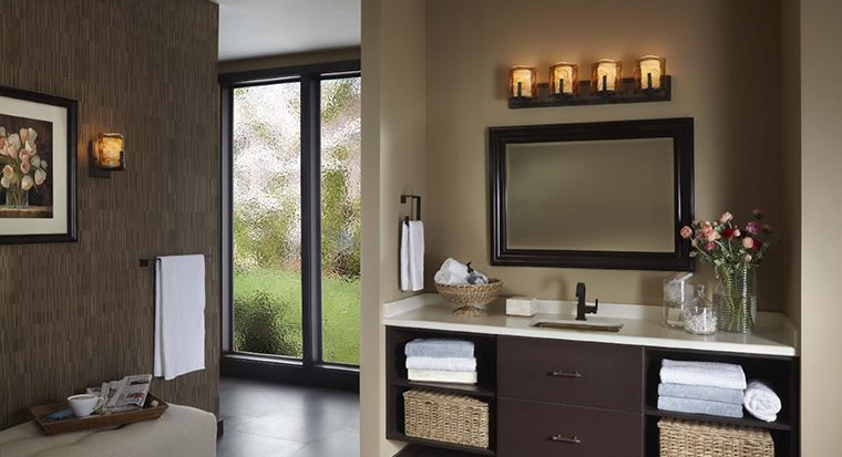 guest bathroom with decorated walls