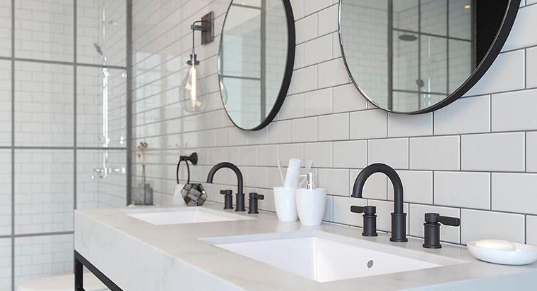 close-up of interesting bathroom faucet