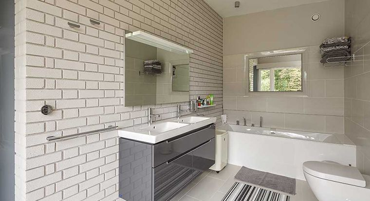unappealing guest bathroom