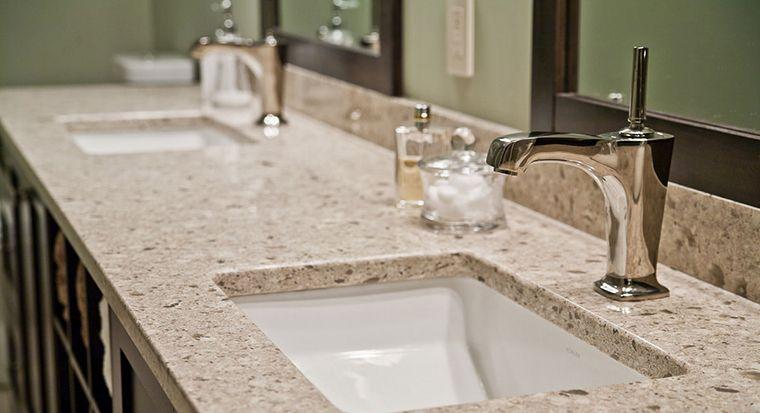 nice bathroom with a granite vanity